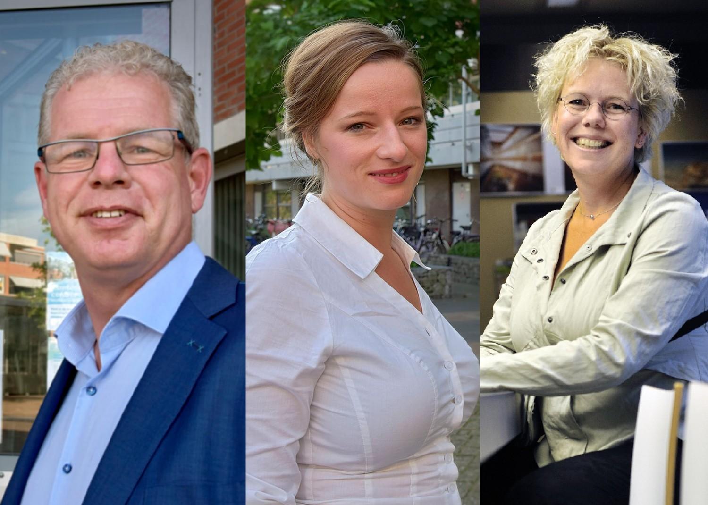 Aline Zwierstra (bestuurder Wonen Breburg), Dirk-Jan Knol (wethouder gemeente Bodegraven-Reeuwijk) en Laurette Vermeulen (beleidsmedewerker huurdersorganisatie Vestia)